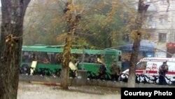Место взрыва автобуса будет отцеплено до 3 ноября
