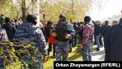 Namoyishlar politsiya nazorati ostida bo'lib o'tmoqda