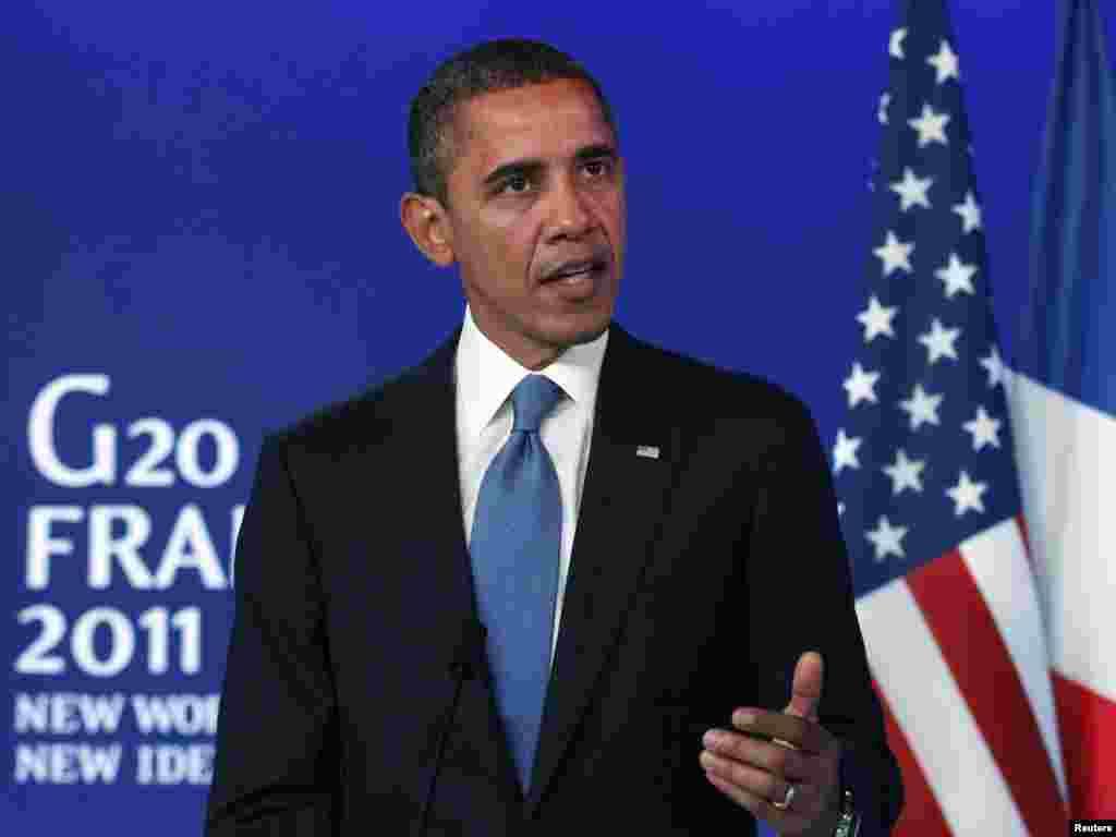 Američki predsjednik Obama, 03.11.2011. Foto: Reuters / Kevin Lamarque