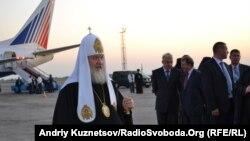 Патріарх Кирил в луганському аеропорту, 14 вересня 2011 року