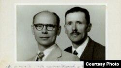Фэлікс (зьлева) і Флярыян Чарнышэвічы, 1950 год