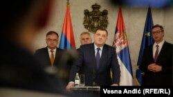 Predsednik RS Milorad Dodik i srpski član Predsedništva BiH Mladen Ivanić u Beogradu