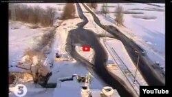 Скриншот видео обстрела блокпоста