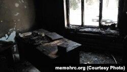 Ռուսաստան - «Մեմորիալ»-ի հրկիզված գրասենյակը Նազրանում, 17-ը հունվարի, 2018թ․
