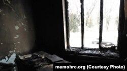 """Пожар в офисе """"Мемориала"""" в Ингушетии (январь, 2018 г)"""