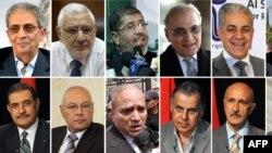 Египет президенттігіне үміткерлердің суреті.