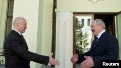 Встреча президента Белоруссии Александра Лукашенко и и.о. президента Украины Александра Турчинова. 29 марта 2014 года