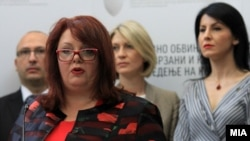 Special Public Prosecutor Katica Janeva (second from left)