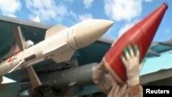 На российской авиабазе Хмеймим в Сирии.