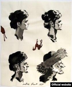 Один из многочисленных рисунков придуманной Рои Розеном Жюстин Франк