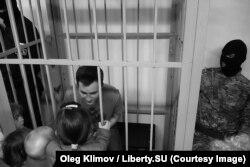 Александр Оршулевич с детьми на суде по мере пресечения 29 мая 2017 г.