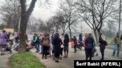 Protest porodilja, foto: Šerif Babić