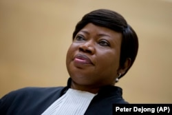FILE: Prosecutor Fatou Bensouda looks on in the court room of the International Criminal Court in The Hague in September 2015.
