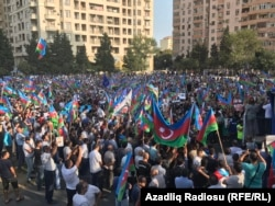 Azerbaijani opposition gathering in Baku