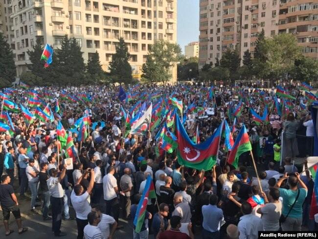 Azerbaijani opposition gathering in Baku