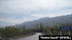 The Tajik-Kyrgyz border at Chorkuh (file photo)