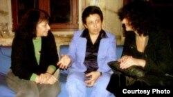 شيرين عبادي الفائزة بجائزة نوبل للسلام مع الكاتبة و الباحثة العراقية بدور زكي محمد