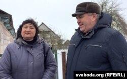 Алена Анісім з памочнікам Леанідам Качановічам