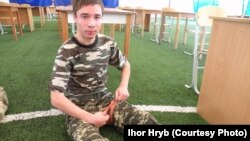 Ihor Hryb believes that his 19-year-old son Pavlo (above) was lured into meeting a woman in Belarus by Russia's Federal Security Service and kidnapped by its agents.
