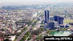 Вид на Ташкент.