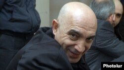 Armenia - Hovannes Tamamian, a police general arrested in March 2011, attends a court hearing in his trial, 14Mar2012.