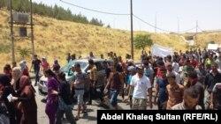 تظاهرة لأيزيديين في دهوك