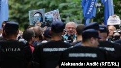 """Vojislav Šešelj sa radikalima demonstrira protiv održavanja festivala """"Mirdita, dobar dan"""", Beograd, 30. maj 2018."""
