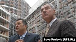 Duško Knežević i Milo Đukanović, fotoarhiv