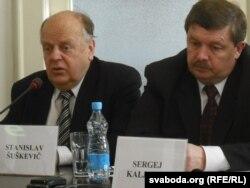 Станіслаў Шушкевіч і Сяргей Калякін, 2010 год.