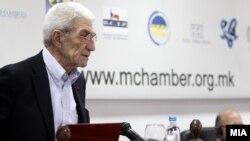 Градоначалникот на Солун, Јанис Бутарис на средба со македонски бизнисмени во Скопје.