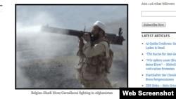 Лидер группировки «Солдаты Халифата» Моэзеддин Гарсалауи изображен тут на фото из Афганистана. Скриншот с веб-сайта Ojihad.wordpress.com.