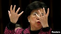 Марґарет Чан виступає з заявою про вірус зіка, Женева, 28 січня 2016 року
