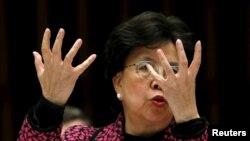 Drejtorja e Organizatës Botërore të Shëndetësisë, Margaret Chan.