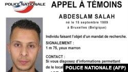 Фота і апісаньне Салаха Абдэслама, які падазраецца ў датычнасьці да тэрактаў 13 лістапада ў Парыжы, распаўсюджанае францускай паліцыяй