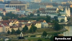 Вид на столицу Беларуси Минск
