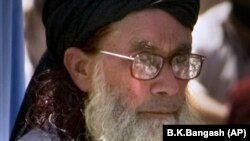 FILE: Believed to be in his 90s, Sufi Muhammad was the head of the banned group Tehreek Nifaz-e Shariat Muhammadi and the father-in-law of Maulana Fazlullah, the leader of the Pakistani Taliban.