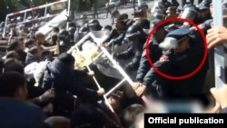 Кадр из опубликованной полицией видеозаписи
