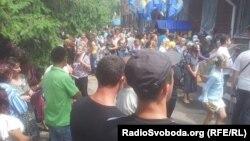 Під час акції протесту у Врадіївці, 4 липня 2013 року