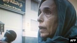 هاله اسفندیاری بعد از آزادی و در برابر دوربین تلویزیون ایران
