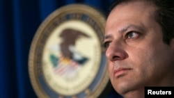 U.S. Attorney for the Southern District of New York Preet Bharara during a news conference on December 5 to discuss alleged Medicare fraud by Russian diplomats.