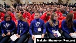 Российские спортсмены на заседании Олимпийского комитета, Москва, 12 декабря 2017 год