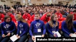 Російські спортсмени на зустрічі щодо участі країни в зимових Олімпійських іграх 2018 року, Москва, Росія, 12 грудня 2017 року