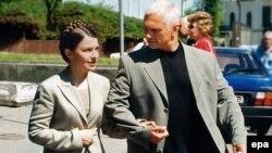 Юлія та Олександр Тимошенки у Києві у 2004 році
