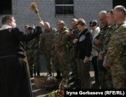 Во время празднования Пасхи в расположении воинской части