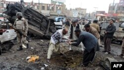 На місці першого вибуху у Кветті, 10 січня 2013 року