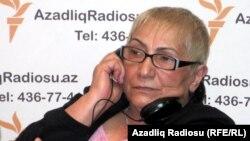Azerbaijan -- Mirvari Gahramanli, chairperson of Oil Workers' Rights Protection Organization, Baku, May2012