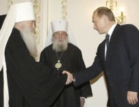 Some critics say the Russian Orthodox Church has become too close to the Russian state (file photo)