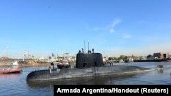 Подводная лодка «Сан-Хуан» в порту Буэнос-Айреса, Аргентина, 2 июня 2014 года