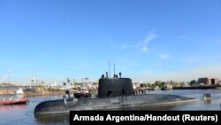 Аргентинська субмарина San Juan в порту Буенос-Айреса, 2 червня 2014 року