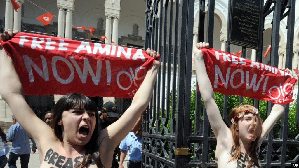 Femen Activists Freed From Tunisian Jail